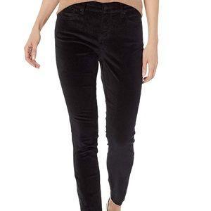 NYDJ Ami Skinny Black Velvet Jeans EUC